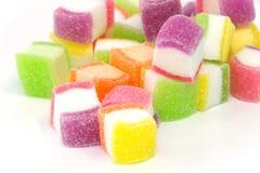 Godis marshmallow med gelatinefterrätten Royaltyfri Fotografi