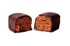 Godis med ost och choklad Fotografering för Bildbyråer