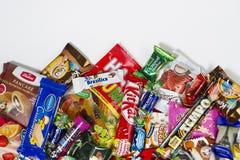 Godisar choklader, sötsaker Royaltyfri Foto
