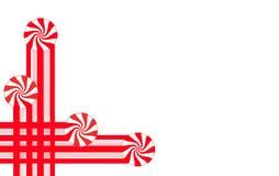 Godisband och pepparmintgodisen gör grafiska julgränser och beståndsdelar för en themed orientering för ferie vektor illustrationer