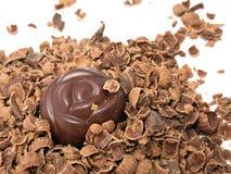 godisen chips choklad royaltyfria foton