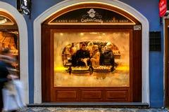Godisen shoppar i Prague Royaltyfri Foto