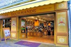 Godisen shoppar och lokala specialiteter Royaltyfria Foton