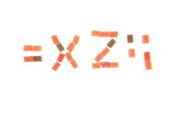 godisfrukt skära i tärningar alfabet Arkivfoton