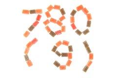 godisfrukt skära i tärningar alfabet Royaltyfri Bild