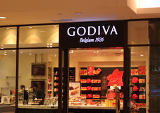 Godiva Belgium Chocolate Store fotos de stock royalty free