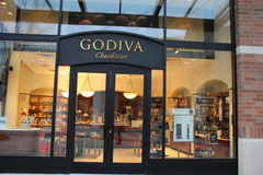 Godiva chocolate shop. Godiva  is a manufacturer of premium chocolates and related products Stock Photography