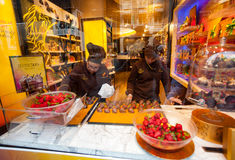 Godiva Chocolate Store Fifth Avenue in Manhattan Stockfotos
