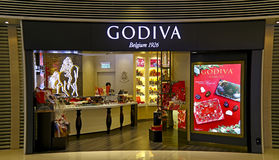 Godiva choklad shoppar Arkivbilder