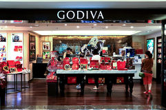 Godiva-Schokoladenshop Stockfotos