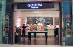 Godiva shop in hong kong Stock Photo