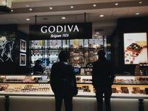 Godiva Shop in Tokyo Stock Afbeelding