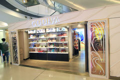Godiva shoppar i Hong Kong Royaltyfri Foto