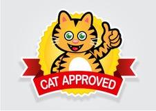 godkänd kattskyddsremsaetikett Royaltyfria Foton