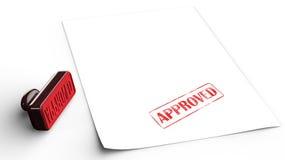 godkänd rubber stämpel Fotografering för Bildbyråer