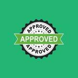 Godkänd symbol för skyddsremsastämpelvektor Approve accepterade plan vec för emblemet Royaltyfri Foto