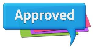 Godkänt färgrikt kommentarsymbol Arkivbild