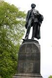 Godley雕象,大教堂广场,克赖斯特切奇 免版税库存照片