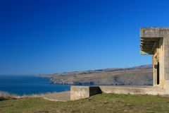 Godley Head Gun Emplacement Royalty Free Stock Image