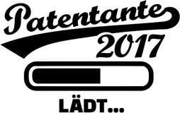 Godmother 2017 - Loading bar german. Vector Royalty Free Stock Images