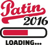 Godmother 2016 loading bar german. Vector Stock Photo