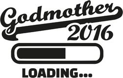Godmother 2016 loading. Bar vector Royalty Free Stock Photography