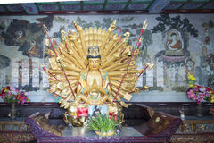 Godness in Chinese tempel royalty-vrije stock afbeelding