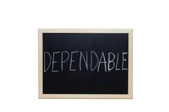 GODNY ZAUFANIA pisać z biel kredą na blackboard Fotografia Royalty Free