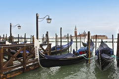 Godolas in Venedig. Italien Lizenzfreie Stockfotografie