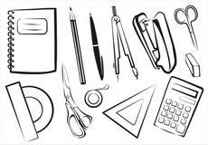 godor school set brevpapper vektor illustrationer