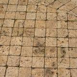 Godos dos quadrados brancos e pretos, uma estrada velha pavimentada com pedra Fundo bonito Fotografia de Stock Royalty Free