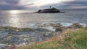 Godrevy Cornwall Stockbild