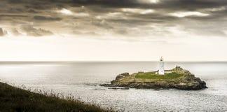 Godrevy Cornwall Royaltyfri Foto