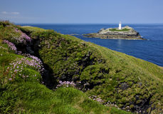 Godrevy Head lighthouse Royalty Free Stock Photo