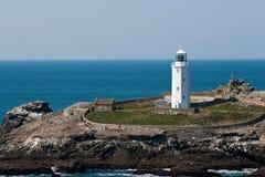 Godrevy Leuchtturm Cornwall Lizenzfreies Stockfoto