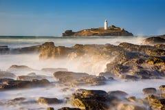 Godrevy-Leuchtturm, Cornwall Lizenzfreie Stockfotos