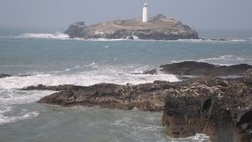 Godrevy lighthouse Cornwall England UK Royalty Free Stock Images