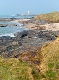 Godrevy lighthouse and island St Ives Bay Cornwall coast Stock Image