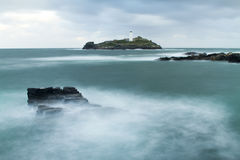 Godrevy Lighthouse. Godrevy light house at Gwithian beach in St Ives Bay, Cornwall Royalty Free Stock Image