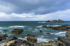 Godrevy point lighthouse at  Cornwall Royalty Free Stock Images