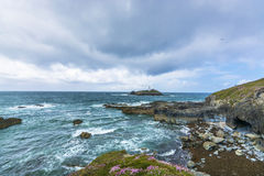 Godrevy point lighthouse at  Cornwall Stock Photos