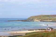 Godrevy strand, Cornwall Arkivbild