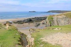 Godrevy strand, Cornwall Fotografering för Bildbyråer