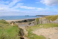 Godrevy strand, Cornwall Arkivbilder