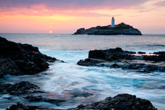 Godrevy Sundown Stock Image
