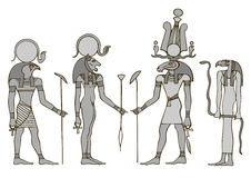 Gods of ancient Egypt Royalty Free Stock Image