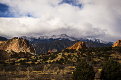 Gods Garden. The beautiful overlook of The Garden of the Gods in Colorado Springs Royalty Free Stock Image