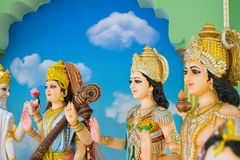Gods of Hinduism Is worshiped by the Indians. And people around the world Royalty Free Stock Photography