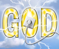 Gods power Stock Image