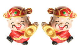 Gods of Prosperity Figurines Stock Photos